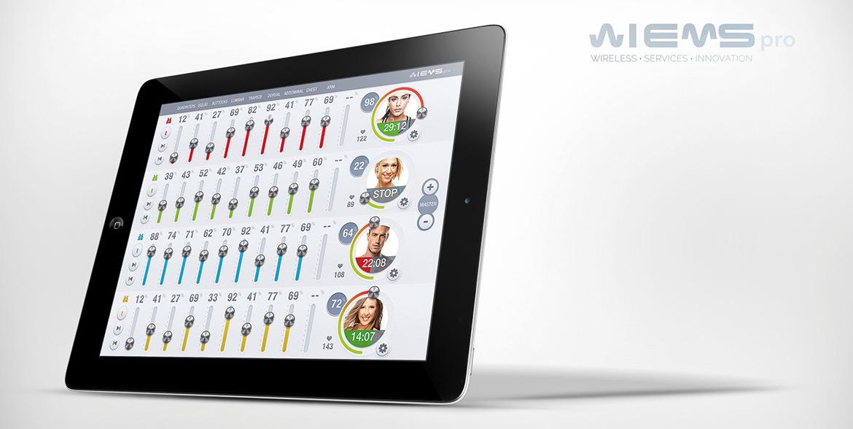 Wiemspro - iPad aplikacija - EMS trening